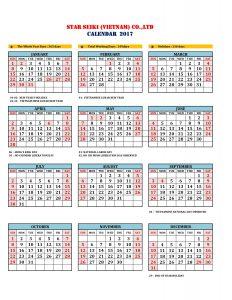 working-calendar-2017